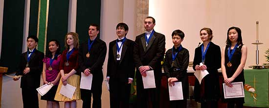 The Vancouver Symphony Orchestra winners of the Young Artists Competition Sunday, February 27th